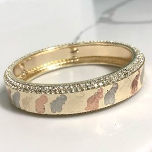 Jewelry - 18k Gold Filled Elephant Tricolor Bangle